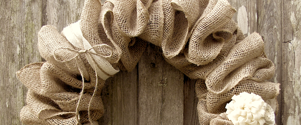 How to Make a Burlap Wreath 1200×500