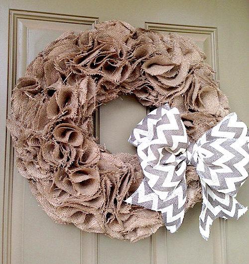 burlap wreath circular swatches