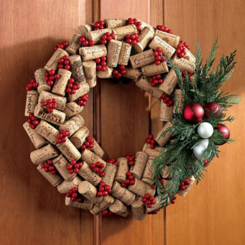 cork wreath diy