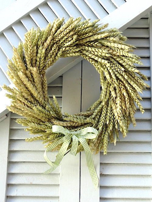 fall wheat wreath tutorial