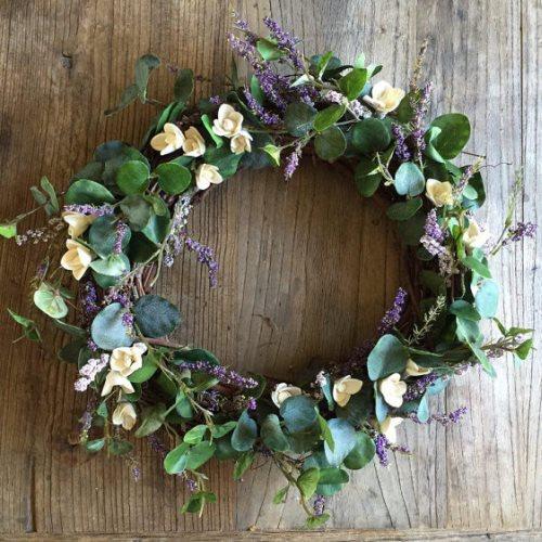 greenery wedding wreath