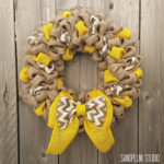 Fall Wreaths – How to Make Multi-Colored Burlap Wreath (Video)