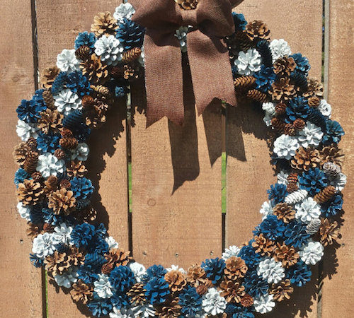 painted pinecone wreath ideas