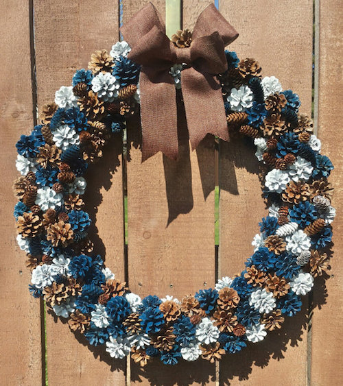 How to Make A Pinecone Wreath (Video)