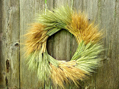 two tone color wheat wreath