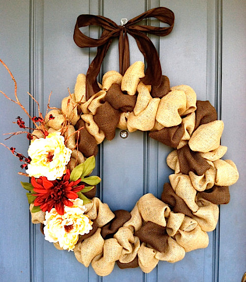 Colored-burlap-wreath