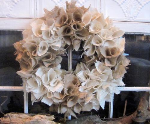 Unique Burlap Wreath