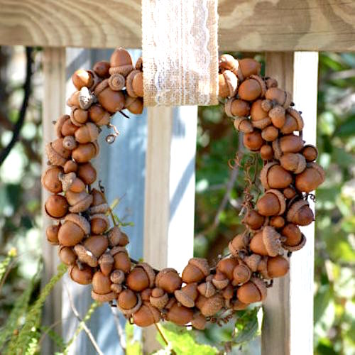 acorn-wreath ideas fall wreaths