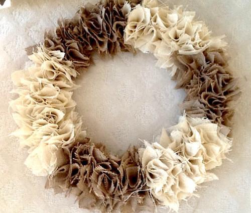 burlap wreath swatches