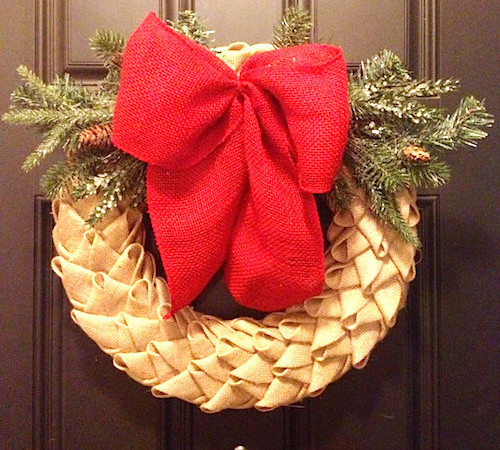 How to Make a Chevron Petal Burlap Wreath (Video)