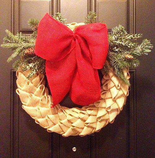 chevron wreath ideas
