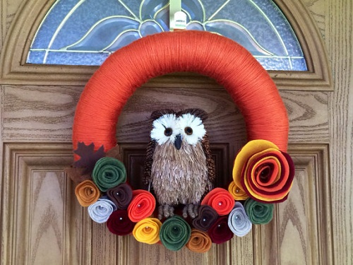 fall_yarn_wreath_owl