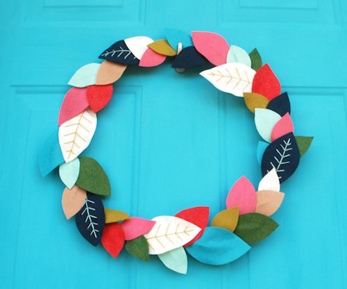 How to Make a Felt Leaf Wreath Tutorial