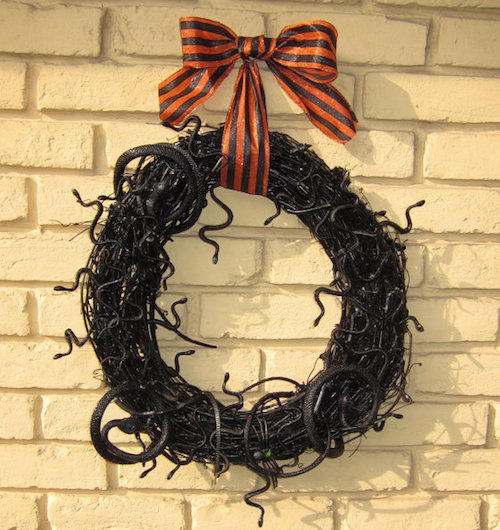 snake grapevine halloween wreath