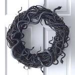 How to Make a Snake Halloween Grapevine Wreath (Video)