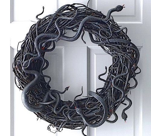 How to Make a Snake Halloween Grapevine Wreath (Video)