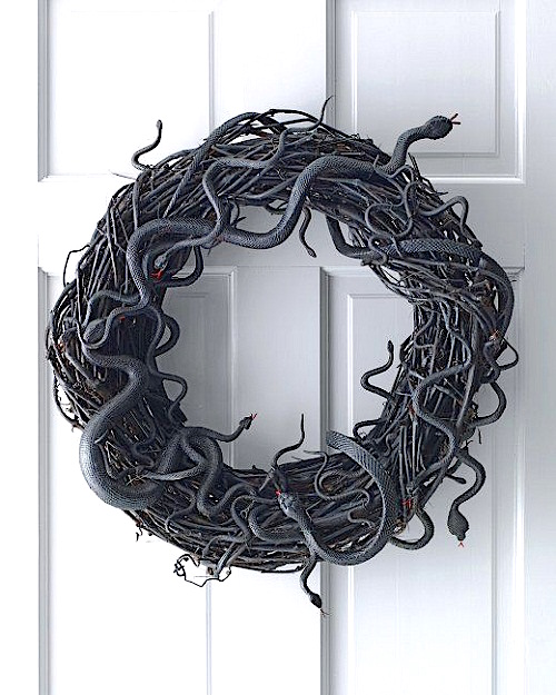 snake_halloween_grapevine_wreath tutorial
