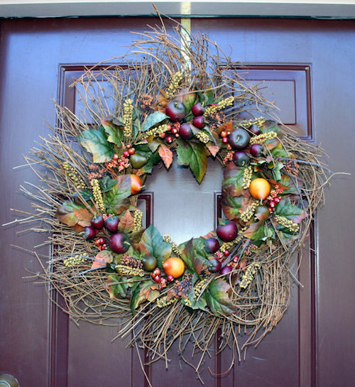 Thanksgiving grapevine wreath