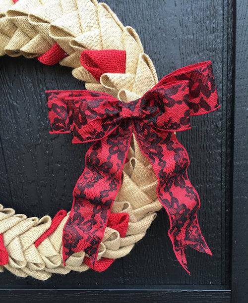 chevron burlap petal wreath ideas