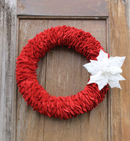 how to make a felt christmas wreath