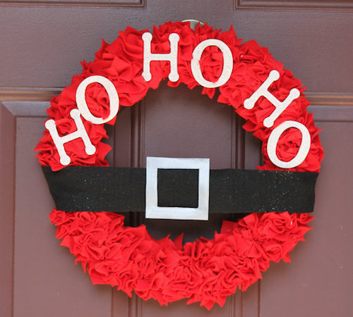 red felt wreath Santa belt