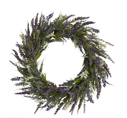 Faux Lavender wreath Pier 1 Imports