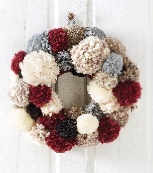 Pom pom wreaths