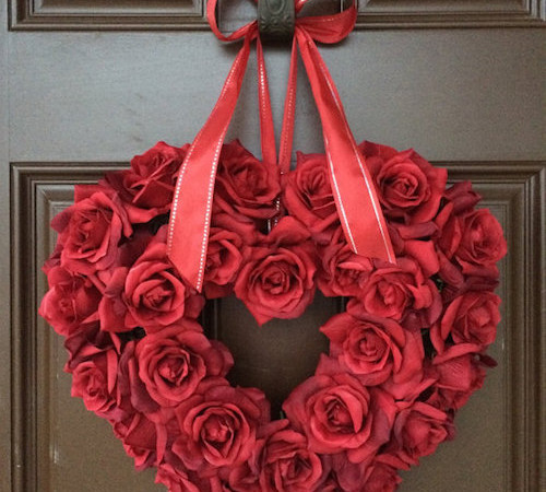 Valentines Roses Wreath