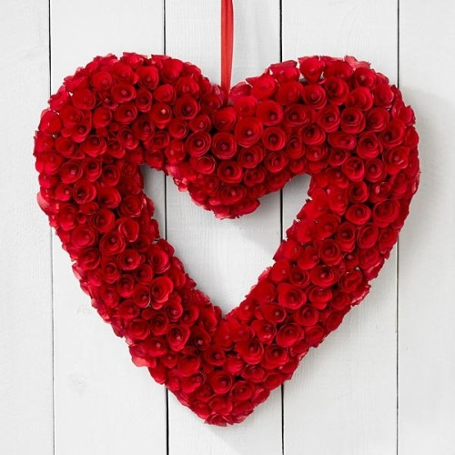 Valentines Roses Wreath Ideas