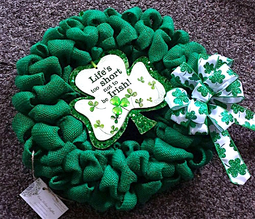 st-patricks-day-burlap-wreaths ideas