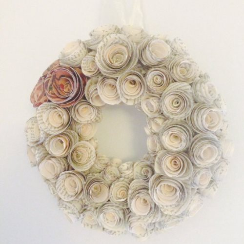 valentine paper craft wreath ideas