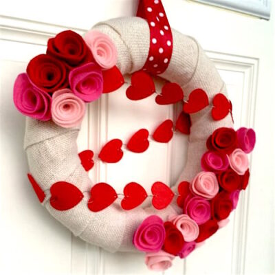 Valentine Wreath Ideas: How to Make a Burlap Wreath