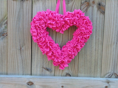 wreath making supplies valentines heart