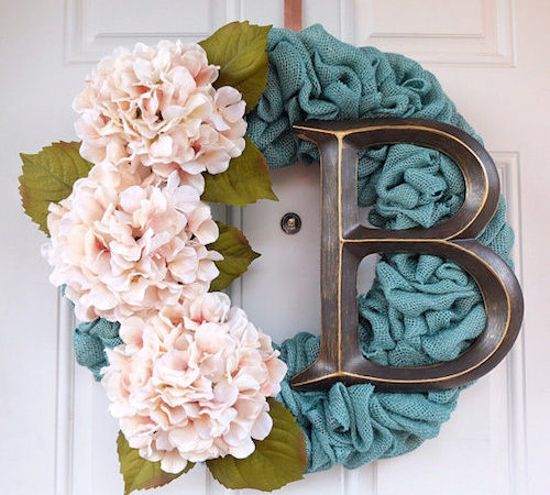 Colored Burlap wreath
