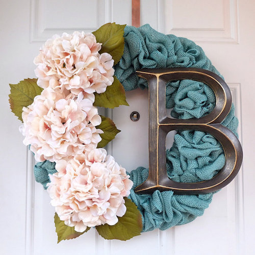 Colored Burlap wreath