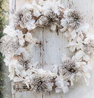 Joanne winter rag wreath