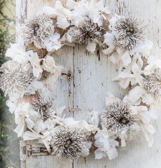 Joanne winter rag wreath