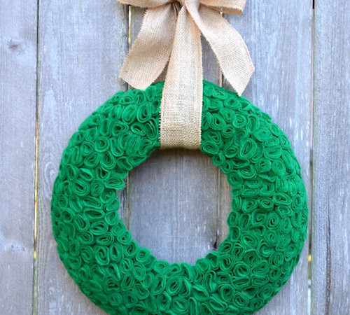 How to Make St Patricks Day Felt Wreaths