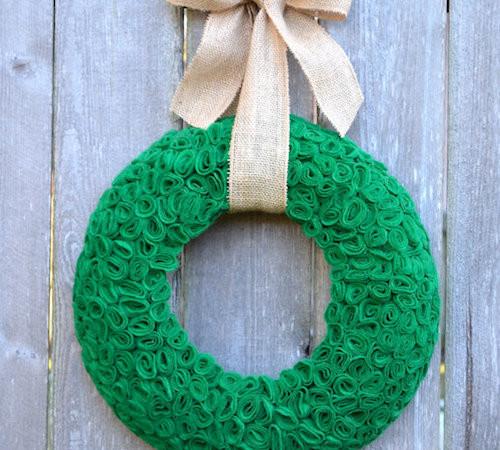 St Patricks Day Felt Wreath