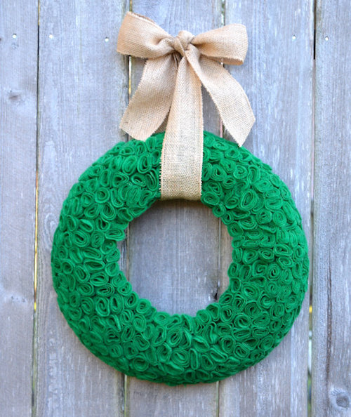 St Patricks Day Felt Wreath