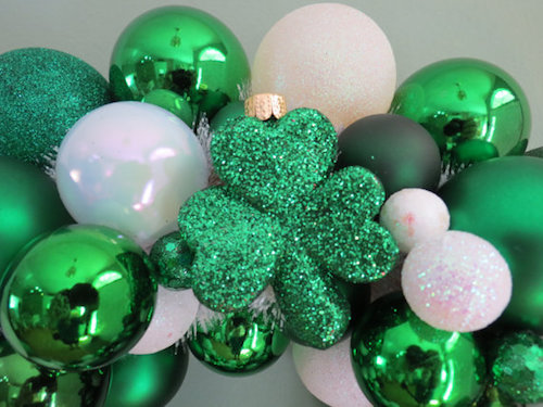 St Patricks Day Wreath ornaments