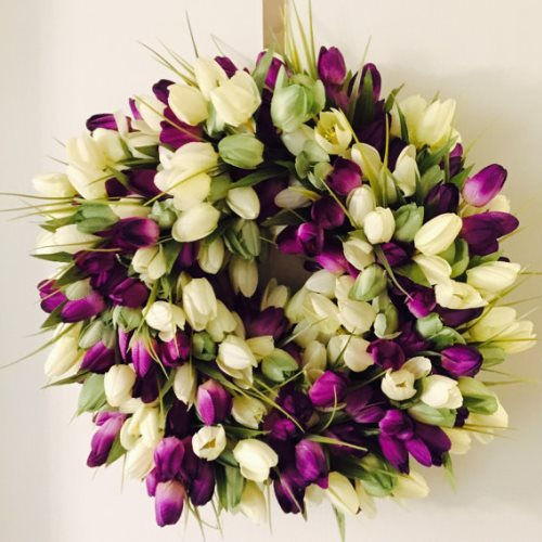 spring wreath tulip door wreaths