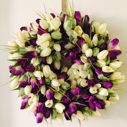 spring wreath tulip door wreaths