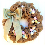 Easter Wreath Ideas: How to Make a Burlap Wreath