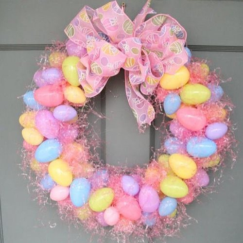 Easter decorations wreath
