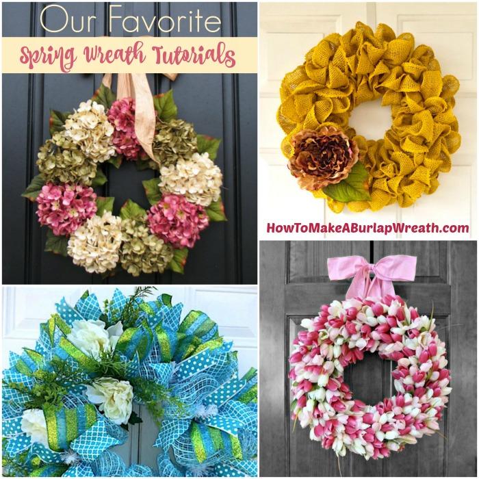 Favorite spring wreath tutorials