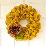 How to Make a Spring DIY Burlap Wreath