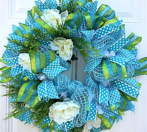 spring deco mesh wreath ideas