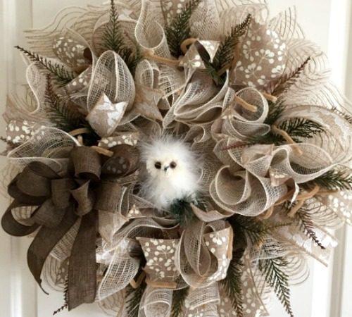 burlap deco mesh wreath ideas