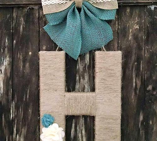 monogram letter wreath